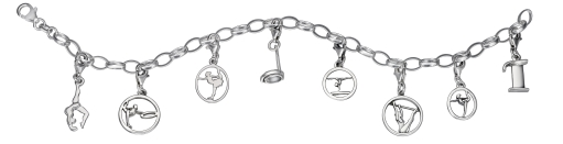 My-Beads Charms Armband Silber Turnen.